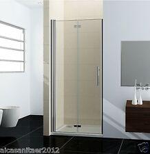 Dusche Nischentür Schwingtür Falttür Duschabtrennung Duschwand Echtglas 90cm