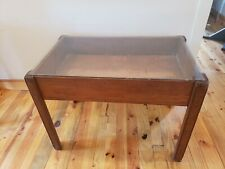 Vintage Primitive Dry Sink Cabinet Table Copper Lined W/Glass Top