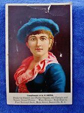 1880's Antique Ad Victorian Trade Card: G.P. SMITH ORGANS PIANOS, Somerville NJ