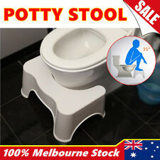 New Sit and Squatty Potty Eco Toilet Stool Plastic Healthy Colon White Non-Slip