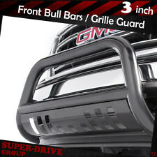 """For 1988-2000 GMC C/K SERIES 2500/3500 3"""" Front Bull Bar Grille Guard Black"""
