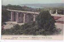 I 94-Losanna Kt. Vaud Svizzera, Pont chauderon, montbenon et..., 1906 GLF.