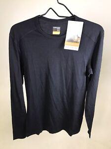 Icebreaker Merino 200 Oasis Crewe LS Shirt - Small - BLACK - NEW WITH DEFECT