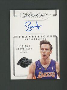 2012-13 Panini Flawless Transitions Steve Nash Signed AUTO 10/10 Phoenix Suns