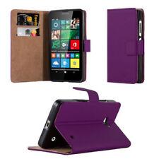 Fundas y carcasas lisos de piel color principal morado para teléfonos móviles y PDAs