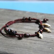 Bracelet Ethno Style C Pearls Brown and Beige Tibetan Silver Bands