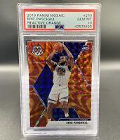 Eric Paschall *PSA 10* RC 2019 Reactive Orange Panini Mosaic #250 Warriors NBA
