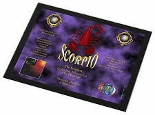 Scorpio Star Sign of the Zodiac Black Rim Glass Placemat Animal Table G, ZOD-8GP