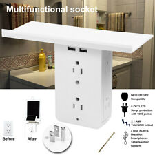 8 Port Electrical Socket Shelf Surge Protector Wall Outlet for bathrooms & Other