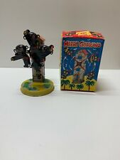 Mechanical Merry Goround Litho Tin Windup Toy Box Working Key
