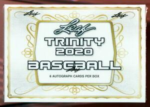 2020 LEAF TRINITY BASEBALL FACTORY SEALED HOBBY BOX FROM CASE auto