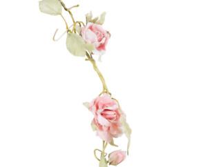 Sass &Belle Rose Garland Light Pink Flower Wedding Vintage Chic Home Decoration