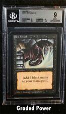BGS Beta Dark Ritual 9 QUAD ++ Magic Beckett Graded MTG