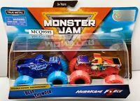 2019 SPIN MASTER MONSTER JAM BLUE THUNDER / HURRICANE FORCE
