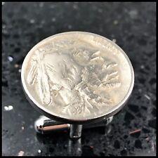 Vintage Indian Head Nickel 5 Cent Coin Cufflinks Americana Money 1930's G57