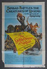 THE GOLDEN VOYAGE OF SINBAD 1973 Original Folded One Sheet Movie Poster