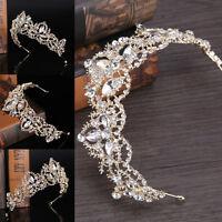 Bridal Princess Crystal Rhinestone Hair-Headband Crown Wedding Comb Tiara Prom