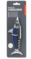 Kikkerland Marlin Ashwood Stainless Steel Corkscrew & Bottle Opener Useful Gift