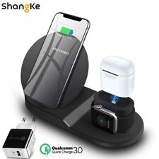 Wireless Charger Stand for iPhone AirPods Apple Watch Charge Dock Station 2019