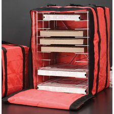 """American Metalcraft Deluxe Pizza Delivery Bag with Rack - Holds 10 16"""" Pizzas"""