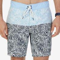 New Nautica Men's Quick-Dry Leaf-Print Swim Trunks Shorts Size XXL MSRP $69.50