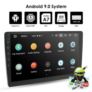 "Android 9.0 9"" 1080P Quad-core 2+32GB Car Stereo Radio WiFi 4G GPS Navigation E"