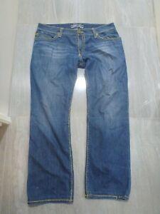 MENS GENUINE ROBINS JEAN THICK STITCH BOOT LEG BLUE JEANS SIZE W 38 L 32