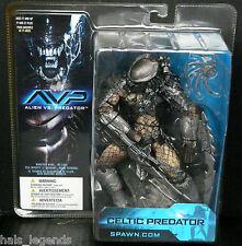 "ALIEN vs Predator Celtic Predator NUOVO! RARO! 7"" Figura McFarlane spawn.com AVP"