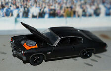 BLACK 1971 CHEVY CHEVELLE SS 454 1/64 SCALE diecast greenlight '71 CHEVROLET