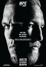 UFC 202 Event Poster - Conor McGregor vs Nate Diaz 2 - 11x17 13x19 - MMA