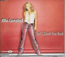 ELLIE CAMPBELL - Don't want you back CDM 3TR Enh Europop 2001 (Topham, Twigg)