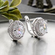 8ff1ac773a73 Joyería de Moda Mujeres Plateado Plata Pendientes De Aro De Cristal estrás  para Oreja con Tachas