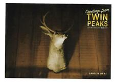 TWIN PEAKS GOLD BOX POSTCARD #28 MOUNTED DEER HEAD POST CARD