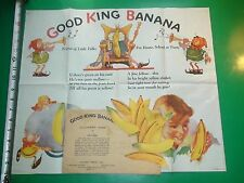JC709 Vtg 1930s Good King Banana Game Original Envelope Directions and 13pcs