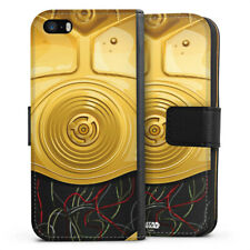 Apple iPhone 5 Tasche Hülle Flip Case - C3PO Closeup
