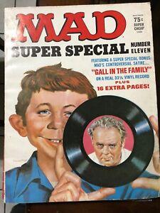 1973 MAD Magazine Super Special #11 VF- 7.5 w/ Flexi Record Insert