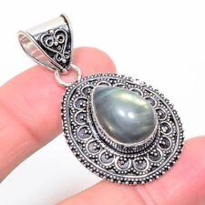 "Jewelry Pendant 1.9"" Zp-286 Labradorite Gemstone Handmade Ethnic"