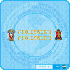 Holdsworth - Bicycle Decals Transfers Stickers Gold Fill & White Keyline - Set 6