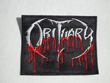 OBITUARY DEATH METAL EMBROIDERED PATCH