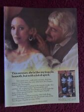 1980 Print Ad Two Fingers Tequila ~ This Woman is Smooth with a Lot of Spirit