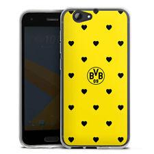 HTC One A9 s Silikon Hülle Case HandyHülle - BVB Herzen