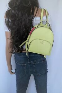 Kate Spade Jackson Medium Pebbled Leather Backpack Yellow (Lime Light) Color