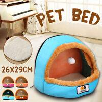 Pet Cat Dog Nest Bed Puppy Soft Warm Cave House Sleeping Bag Mat Pad Winter US