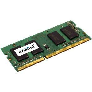 Crucial 4 GB DDR3-1600 MHz SO DIMM 204-pin CL11 RAM Module