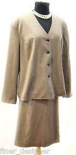 East 5th Skirt SZ 22W suit Jacket 20W 2 pc set womens brown geo Blazer top plus