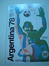 Fußball Weltmeisterschaft 1978  aus Borek ABO: PARAGUAY Block Nr. Argentinien78