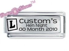 JSC peronalised Custom Made ITALIANO Charm Hen Night