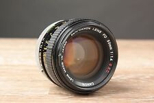 Canon FD 50mm F/1.4 SSC MF Chrome Breach Lock with Case