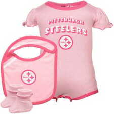 PINK Pittsburgh Steelers 3 PIECE nfl INFANT BABY NEWBORN Jersey 24M 24 Months