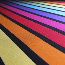 Rainbow Stripe Stretch Single Jersey Fabric , Viscose / elastane - sold by the M